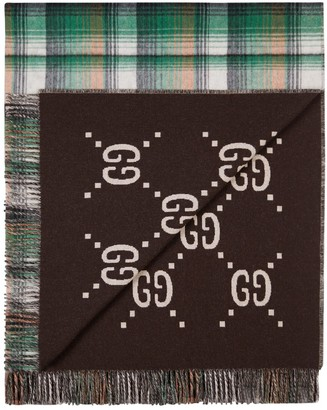 Gucci Gg Reversible Wool Throw