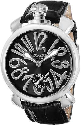 GaGa MILANO Men's 48mm Crocodile Leather Band Mechanical Watch 5010 04 S