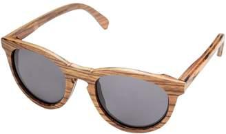 Shwood Belmont Wood Round Sunglasses