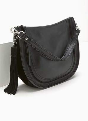 9f7565553b63 Mint Velvet Tina Black Leather Saddle Bag