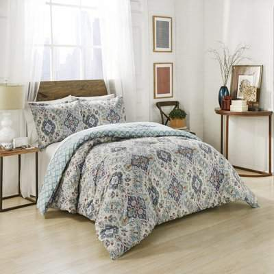 Wayfair Hyperion Cotton 3 Piece Reversible Comforter Set