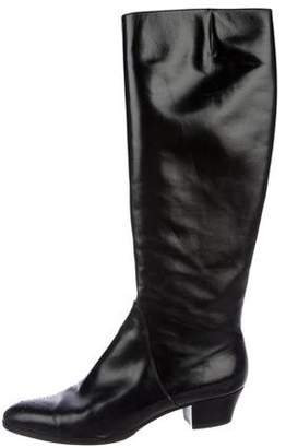 Salvatore Ferragamo Leather Pointed-Toe Boots
