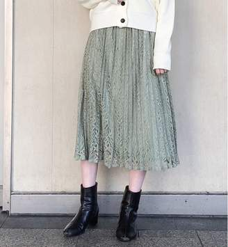 apart by lowrys (アパート バイ ローリーズ) - アパートバイローリーズ Pレースプリーツスカート