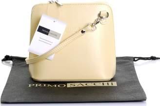 Primo Sacchi Italian Leather, Navy Blue and White/Micro Cross Body Bag or Shoulder Bag Handbag. Includes Branded a Protective Storage Bag.