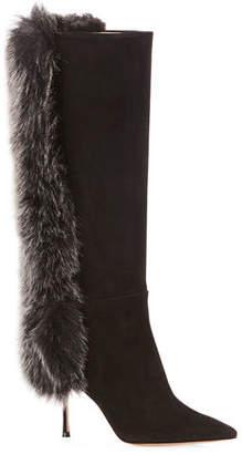 Marion Parke McVie Knee Boots with Faux-Fur Trim