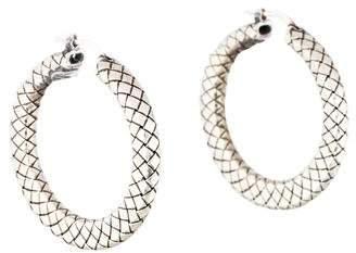Bottega Veneta Intrecciato Tapered Hoop Earrings