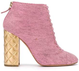 Chanel Pre-Owned 2000's quilted heel ankle boots