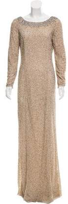 Jenny Packham Embellished Long Sleeve Evening Dress w/ Tags