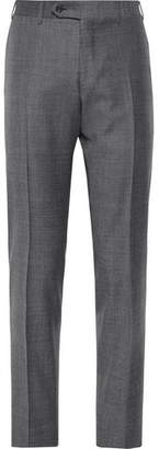 Canali Dark-Grey Slim-Fit Mélange Wool-Sharkskin Suit Trousers
