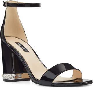 Nine West Abigail Crystal Embellished Ankle Strap Sandal