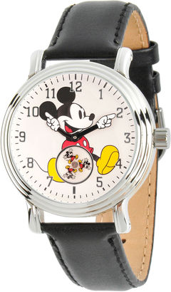 DISNEY Disney Womens Black And Silver Tone Vintage Mickey Mouse Strap Watch W002751 $49.99 thestylecure.com