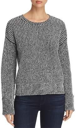 Kenneth Cole Marled Shaker-Stitch Sweater