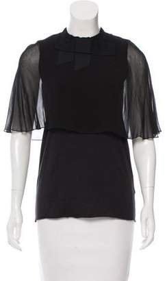 Lanvin Bow-Adorned Draped Top