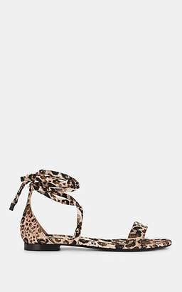 Tabitha Simmons Women's Nellie Leopard-Print Satin Sandals - Lspdbrft
