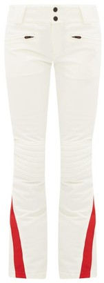 Perfect Moment Chevron Panel Flared Ski Trousers - Womens - White