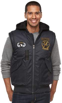 X-Ray Xray Men's XRAY Slim-Fit Hooded Military Vest