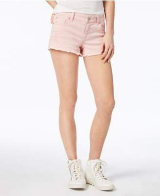 Celebrity Pink Juniors' Colored Cutoff Denim Shorts