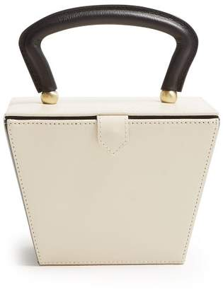 Staud - Sadie Mini Leather Box Bag - Womens - Black Cream