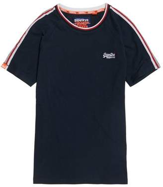 Superdry Orange Label Tipped Sports Stripe T-Shirt