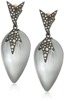 Alexis Bittar Spikey Shape Pave Encrusted Lucite Post Drop Earrings