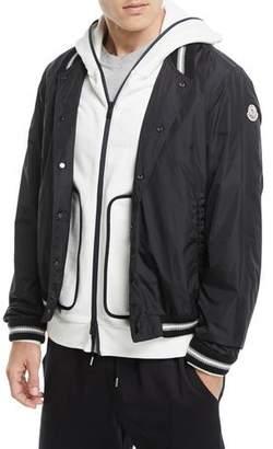 Moncler Nylon-Knit Bomber Jacket