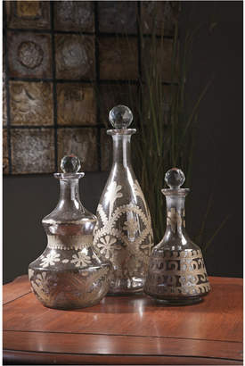 Imax Acadia Glass Decanters - Set of 3