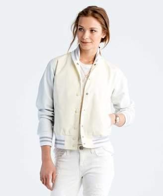 Todd Snyder + Champion: Womens Women's Varsity Jacket in White