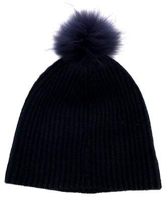 Marc Jacobs Fur Pom Rib Knit Beanie