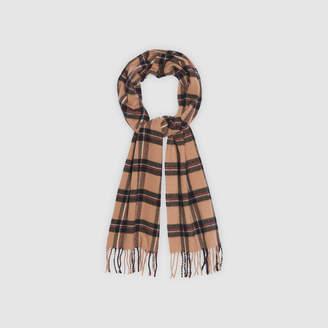 Sandro Tartan scarf with fringing