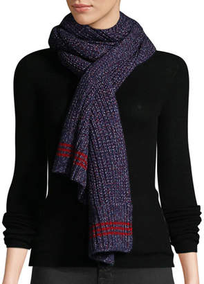 Rag & Bone Cheryl Speckled Wool Rectangle Scarf
