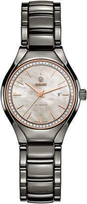 Rado True Automatic Diamonds Ceramic Bracelet Watch, 30mm
