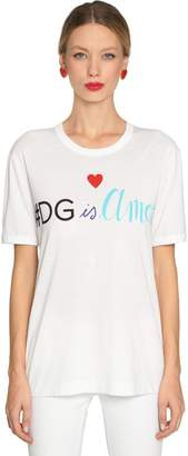 Dolce & Gabbana Is Amore Cotton Jersey T-Shirt