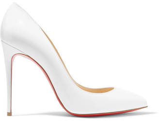 Christian Louboutin Pigalle Follies 100 Patent-leather Pumps - White