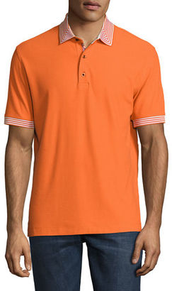 Robert Graham Axelrod Stripe-Detail Polo Shirt $128 thestylecure.com