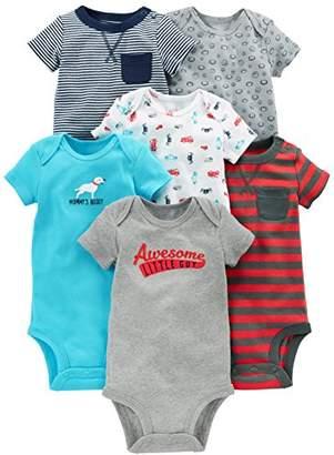 Carter's Simple Joys by Baby Boys' 6-Pack Short-Sleeve Bodysuit