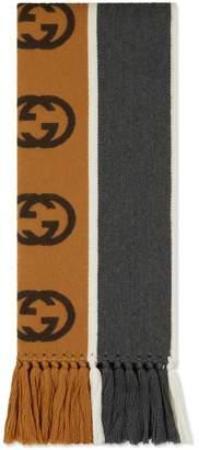Gucci Scarf with Interlocking G stripe