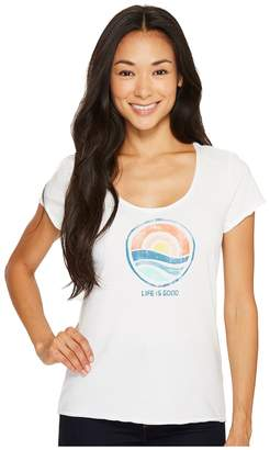 Life is Good Sunrise Smooth Tee Women's Short Sleeve Pullover