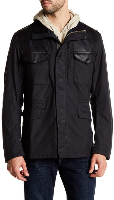 BarbourBarbour Summer Travel Jacket with Genuine Leather Trim