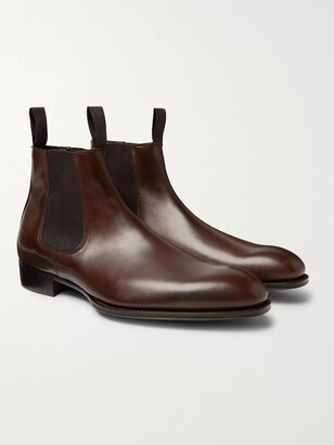 Kingsman George Cleverley Leather Chelsea Boots - Men - Brown