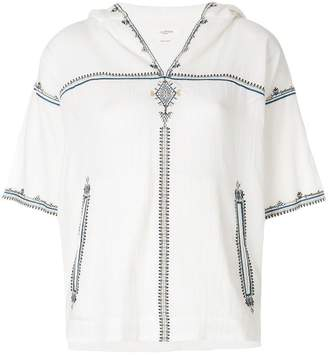 Etoile Isabel Marant embroidered hooded blouse