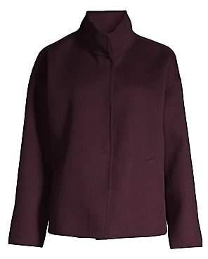 Eileen Fisher Women's Brushed Wool & Cashmere Peacoat
