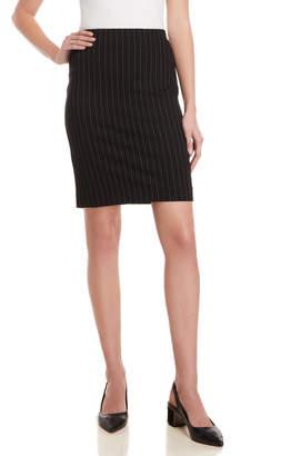 Premise Pinstripe Ponte Pencil Skirt