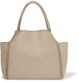 Stella McCartney (ステラ マッカートニー) - Stella McCartney - The Falabella Medium Reversible Faux Brushed-leather Tote - Off-white