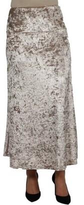 24/7 Comfort Apparel Jazz Velvet Skirt