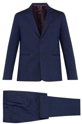 Paul Smith Soho Tailored Fit Wool And Linen Blend Suit - Mens - Navy