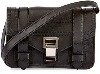 Proenza Schouler PS1 Mini Leather Crossbody Bag, Black