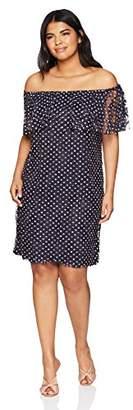 Tiana B Women's Plus Size Shoulder Dress