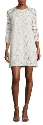 Vince Camuto Three-Quarter-Sleeve Lace Shift Dress