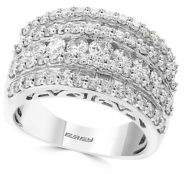 Effy Pave Classica Diamond and 14K White Gold Ring
