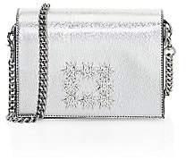 Stuart Weitzman Women's Vivie Lamé Nappa Leather Crossbody Bag